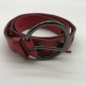Miu Miu  Read Leather Grommet Belts